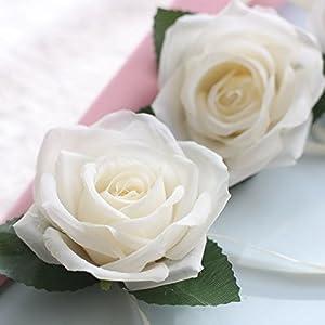 LySanSan - 7.5CM Artificial Flowers Rose Silk Flowers Artificial Flower Heads Home Decor Wedding Favors DIY Decoration Rose Bud Head Flower 89
