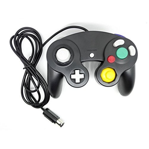 Donop Black Ngc Classic Wired Shock Joypad Game Stick Pad Controller for Nintendo Wii Gamecube NGC Gc Black