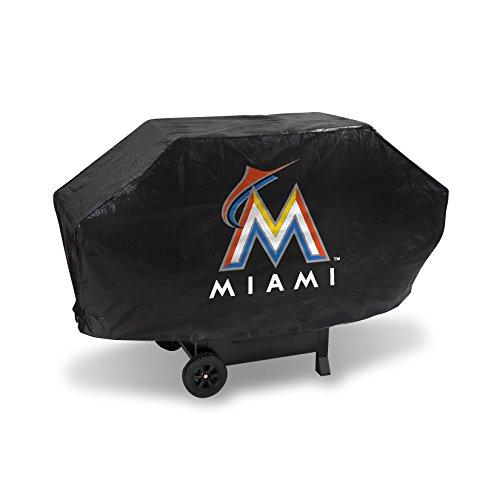 Miami Grill (MLB Miami Marlins Deluxe Grill Cover, Black, 68 x 21 x 35