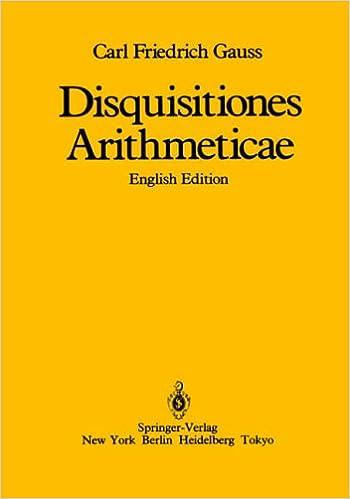 Book Disquisitiones Arithmeticae