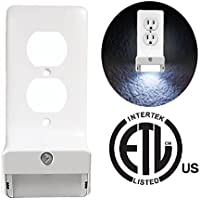 Snap-On LED Wall Plate Night Light - GuideLight Outlet Wallplate Night Light - 1 Step Install - No Batteries Required
