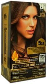 Th Pharma Th Vitalia Color Tinte Nº 534 Castaño Claro Dorado Acobrado Sin Amoniaco 100 g