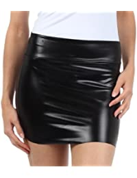 Women's Shiny Metallic Liquid Mini Skirt