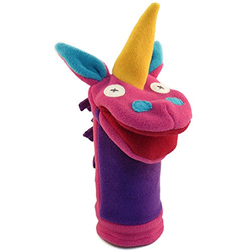 Cate and Levi 12″ Handmade Softy Unicorn Hand Puppet (100% USA Polar Fleece)