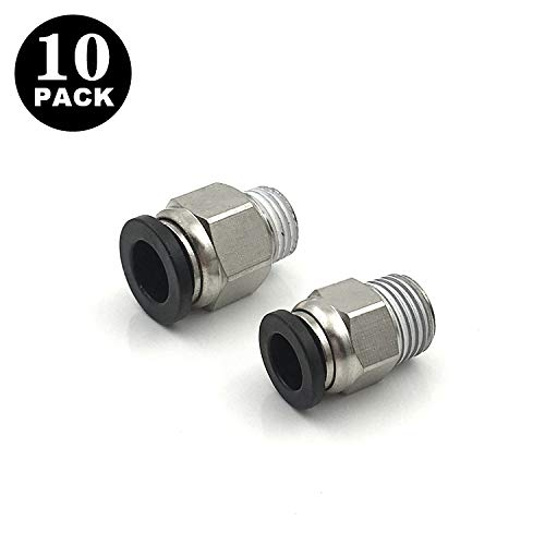 Made in Japan Pack of 10 MacCan Pneumatic PC1//4-N1 Male Straight 1//4 Tube OD x 1//8 NPT Thread Push to Connect Fittings