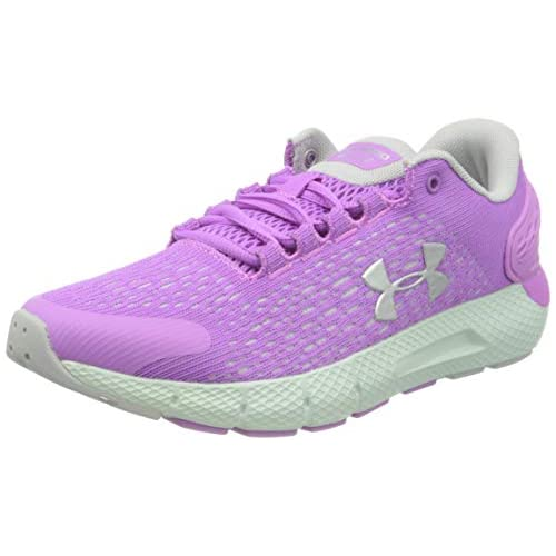 chollos oferta descuentos barato Under Armour Grade School Charged Rogue 2 Zapatillas para Correr Unisex Niños Flor Exótica Gris Halo Plata Metalizada 501 38 EU