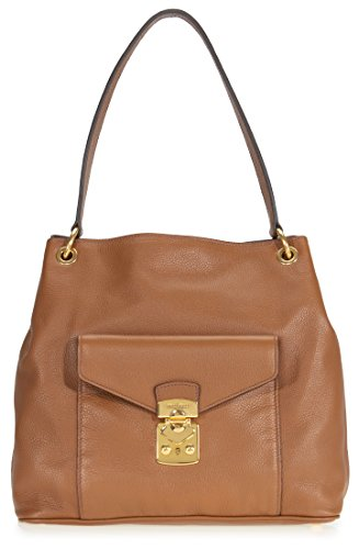 Miu Miu Hobo Leather Bag Cinnamon rrwxBA