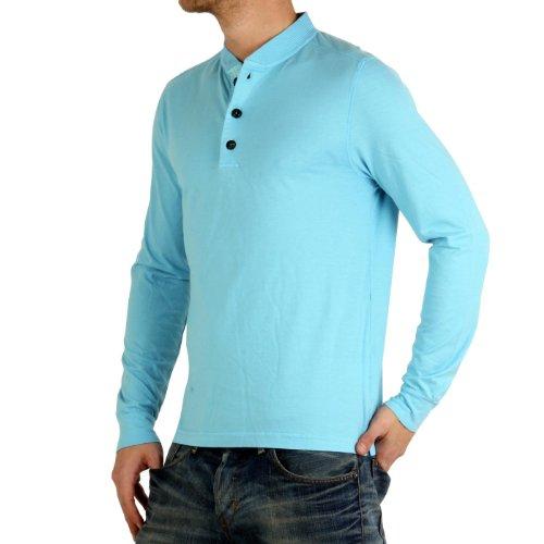 C.P. COMPANY Herren Langarm Poloshirt Light Blue 0335 Größe M
