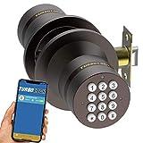 TurboLock TL-99 Bluetooth Smart Lock for Keyless Entry & Live Monitoring – Send & Delete eKeys w/App on Demand (Bronze)