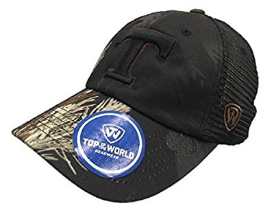 Top of the World Tennessee Volunteers TOW Black Realtree Camo Harbor Mesh Adjustable Snap Hat Cap by Top of the World