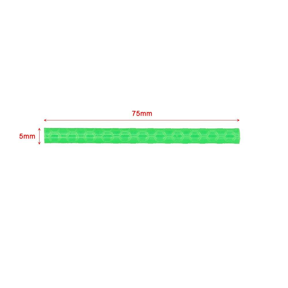 Lepeuxi 24PCS V/élo Roue De V/élo Rayons B/âtons R/éfl/échissants Tube S/ûr V/élo Rayon R/éflecteur Clip De S/écurit/é Roue R/éfl/échissant Tube V/élo D/écoration Lumi/è