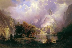 Rocky Mountain Landscape - Albert Bierstadt CANVAS OR PRINT WALL ART