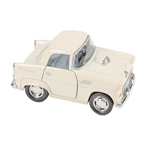 1955 Ford Thunderbird Color 4 Inch Funny Car Die Cast Toy, White (Ford Color Thunderbird)
