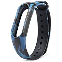 MStick Camouflage Replacement Blue Band Strap for Xiaomi Mi Band Version