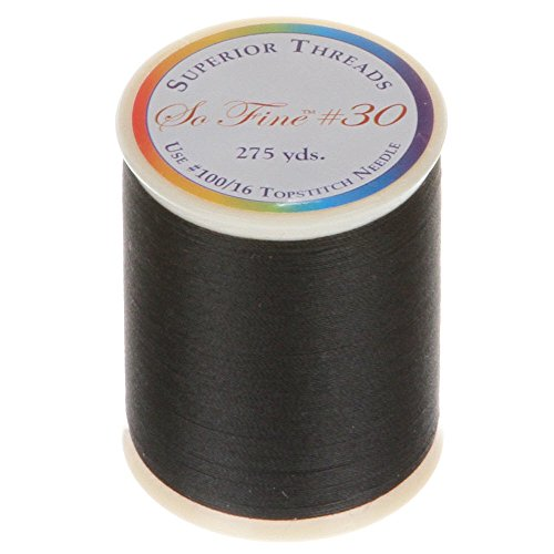 Superior Threads 12501-1150 Sew Fine Lights Out 3-Ply 30W Polyester Thread, 275 yd by Superior Threads