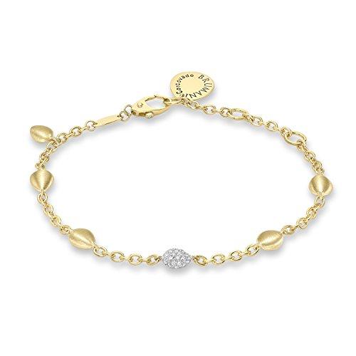 Brumani Bracelet Or Jaune 18carats (750/1000) Ronde Diamant Blanc Femme