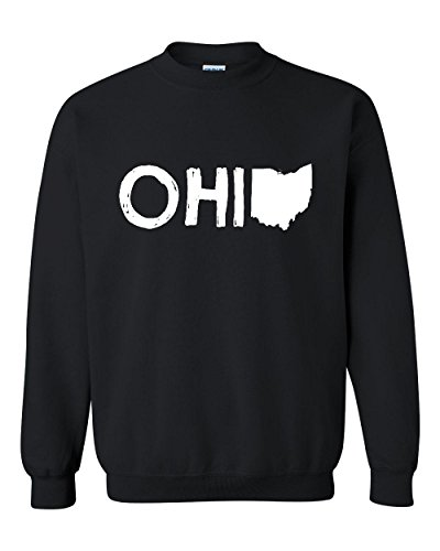 Ugo Ohio Map OH Ohio Cincinnati Map Bearcats Buckeyes Home of Ohio State Unisex Crewneck Sweatshirt