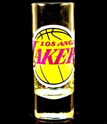Los Angeles Lakers NBA Licensed Glass Cordial Logo Hype Shot Glass (2 Oz.) Team Logo