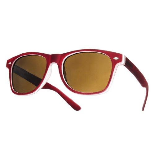 4sold cristales con Gafas Negro diseño de negro ahumados sol Marron unisex TM ochentero HXxOrqfH