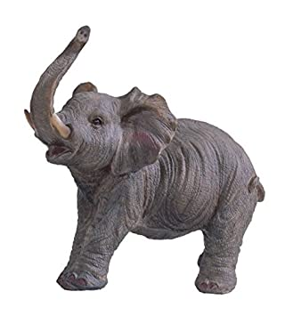 StealStreet SS-G-54136, 6.5 Inch Small Polyresin Walking Elephant with Trunk Up Figurine, 6.5