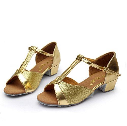 Les Enfants amp; Argent Gold Taille Chaussures 30 Latines Fond Tmkoo Doux Modernes Pour Color De z8TgwqWqpR