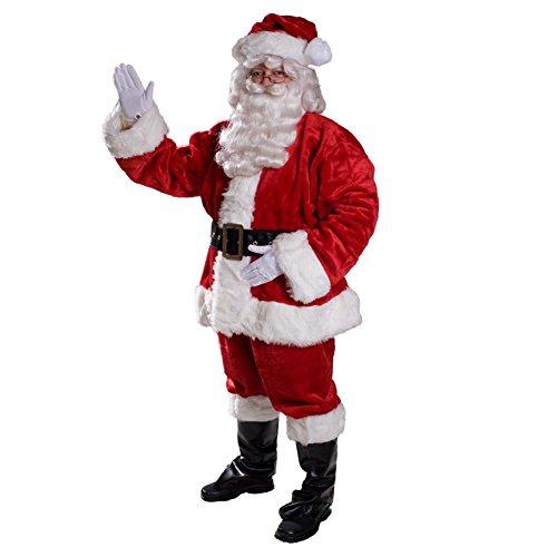 Fun World Costumes Men's Plus-Size Regency Plush Santa Suit-Red, Red/White, XX-Large (Regency Santa Suit)