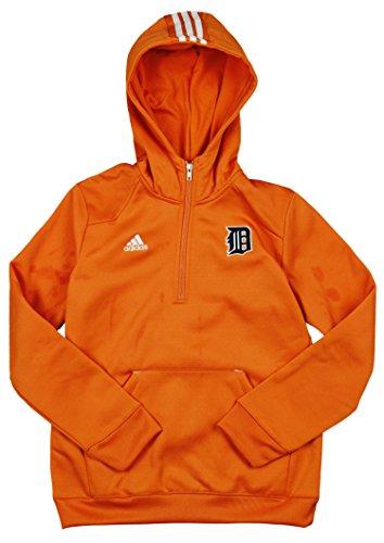 adidas Detroit Tigers MLB Youth Sideline Player Pullover Hoodie Orange (Detroit Hoodie Tiger)