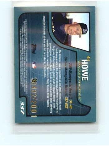 2001 Topps Gold #337 Art Howe MG NM-MT