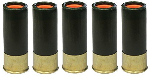 ST Action Pro Pack Of 5 Inert 12 GA 12GA Gauge Shotgun OD Olive Drab Green Safety Trainer Cartridge Dummy Ammunition Ammo Shell Rounds with Brass Case