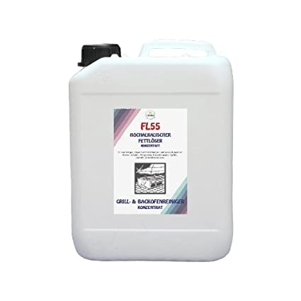 FL55 - desengrasante concentrado - 10 litros bidón - suite desengrasante Alcalino, Grill limpiador,
