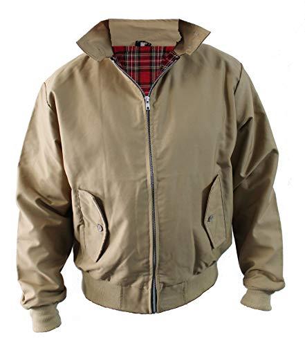 - Harrington Jacket Classic/Retro/Mod/Scooter, 5 Colours, Sizes S - 5XL (L, Taupe)