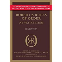 Robert's Rules of Order (Newly Revised, 11th edition)
