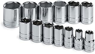 product image for SK 4113-6 13 Piece 1/2-Inch Drive 6 Point 7/16-Inch to 1-1/4-Inch Standard Socket Set
