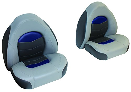 Wise 3303-1880 Pro-Angler Tour Series Bass Bucket Seat Set, Marble Grey/Astro Blueberry/Charcoal