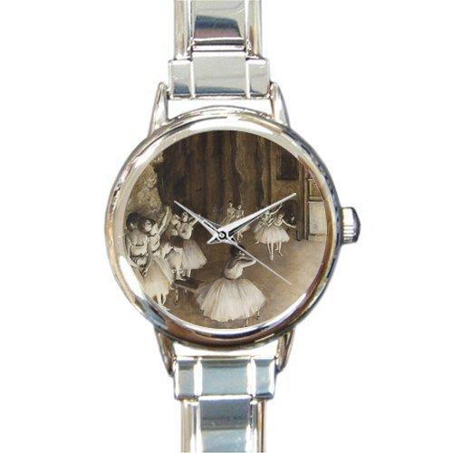 Friends/Sisters New Wedding GiftsEdgar Degas Ballet Dancers Rehersal On Stage Women's Italian Charm Watch
