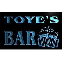 w021347-b TOYE Name Home Bar Pub Beer Mugs Cheers Neon Light Sign