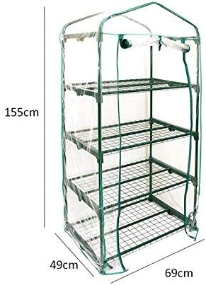 Herb and Flower Garden Green House Replacement Accessories PVC Plant Greenhouse Cover Just Cover, Without Iron Stand, Flowerpot