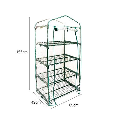 PVC Plant Greenhouse Cover - Herb and Flower Garden Green House Replacement Accessories (Just Cover, Without Iron Stand, Flowerpot) by eronde (Image #3)