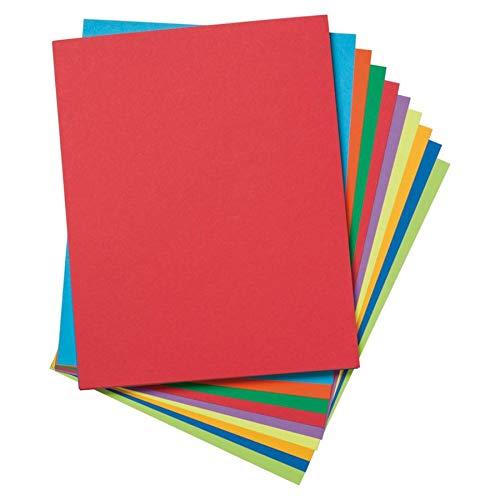 Colors Assortment Hyper (Pacon PAC101164 Premium Tagboard Assortment, 65 lb, Assorted Colors, 50 Sheets)