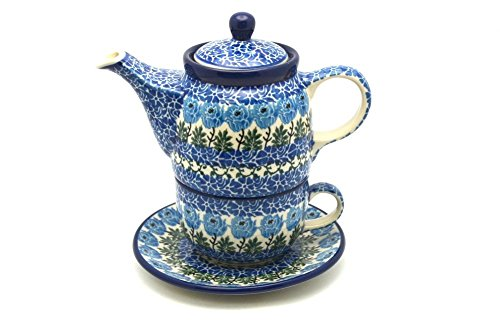 Polish Pottery Tea Time for One - Antique Rose by Polish Pottery Gallery