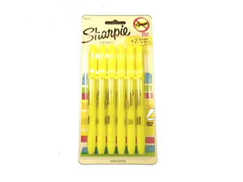 Sharpie 2002316 Pocket Accent Fluorescent Yellow Highlighters with Smear Guard, Narrow Chisel Tip and Clip ()