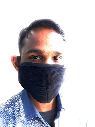 Generic Dust/Anti Pollution Protective Face Mask Mouth & Nose Respirator Outdoor Cotton Unisex Mask(Pack Of 5) Black