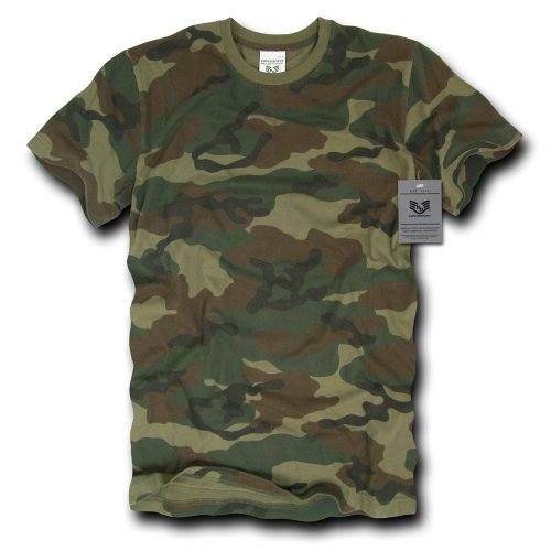 - Rapiddominance Short Sleeve G.I T-Shirt, Woodland, X-Large