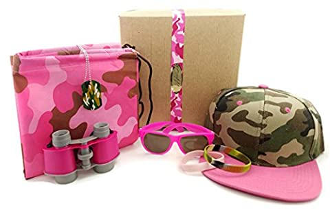 Kids Pink Camouflage Toy Bundle with Gift Box (Pink Camouflage Ribbon)