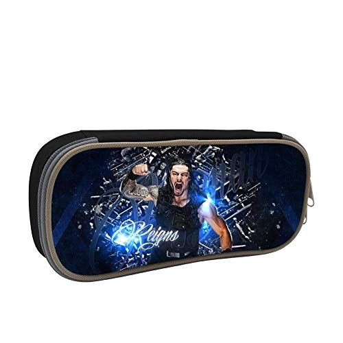 Roman-Reigns Makeup Pouch Durable Students Fashion Stationery with Double Zipper for Boys&Girls ()