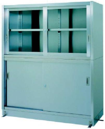 TRUSCO シンコー ステンレス保管庫上部ガラス戸下部ステンレス戸ベース仕様 VG12045