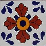 6x6 4 pcs Blue Seville Talavera Mexican Tile