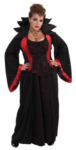 Plus Size Vampire Costumes (Woman's Vampiress Costume, Multi-Colored, 3X-Large)