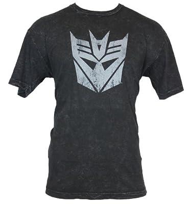 Transformers Mens T-Shirt - Decepticon Logo Distressed Stonewashed Image