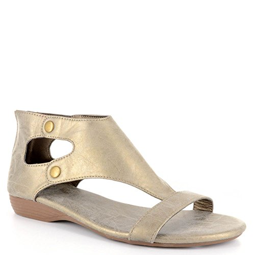 Corkys New Amelia Brushed Gold 7 Womens Sandals